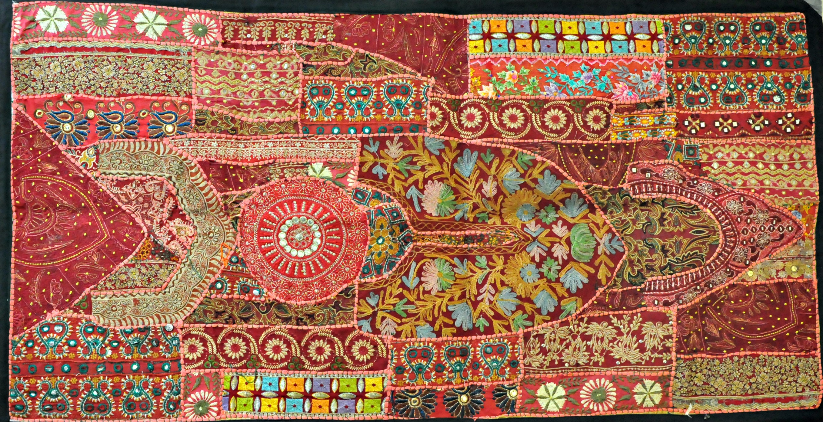 Indian Vintage Handmade Patchwork Tapestry Wall Hanging ...
